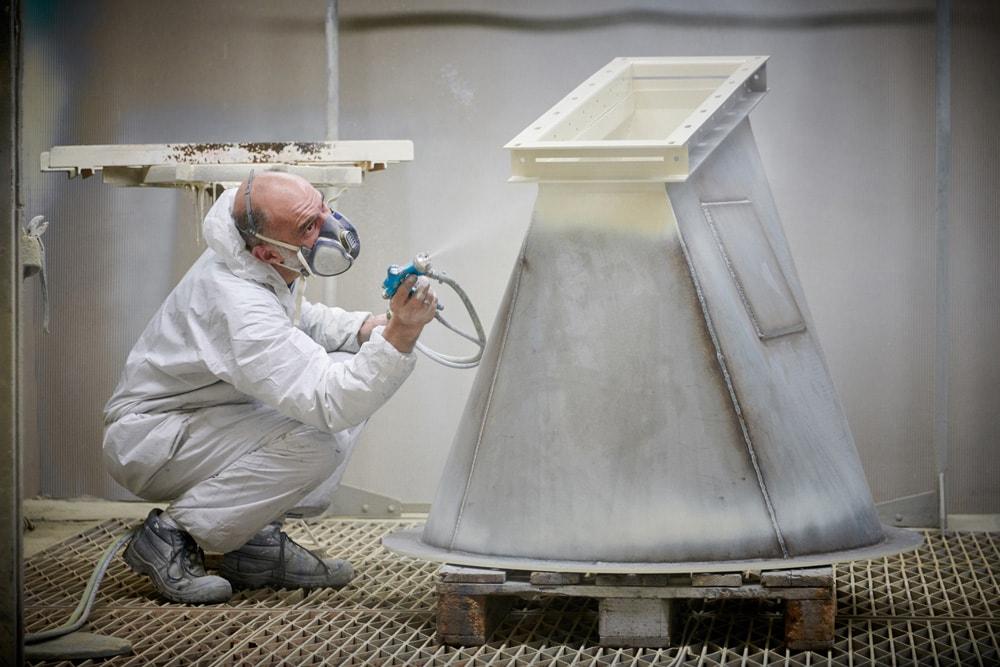 Pulverisation peinture Chaudronnerie GUERY