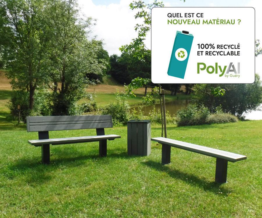PolyalAl by Guéry : du mobilier urbain issu du recyclage de briques de lait